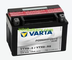 Bateria para moto Varta 12v 8ah 135A AGM PowerSports YTX9-4/YTX9-BS , 508 012 008 152 x 88 x 106 mm