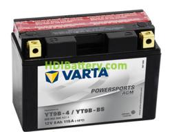 Bateria para moto Varta 12v 8ah 115A PowerSports AGM YT9B-4/YT9B-BS 149 x 70 x 105 mm