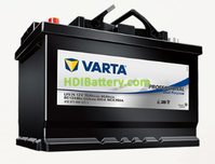 Batería para caravanas Varta Professional Dual Purpose 12v 75Ah 600A LFS75 260 x 175 x 225 mm