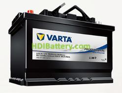 Batería para barco Varta Professional Dual Purpose 12v 75Ah 600A LFS75 260 x 175 x 225 mm
