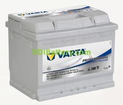 Batería para caravana Varta Professional Dual Purpose 12v 60Ah 560A LFD60 242 x 175 x 190 mm