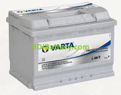 Batería para caravanas Varta Professional Dual Purpose 12v 75Ah 650A LFD75 278 x 175 x 190 mm