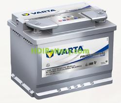 Batería para caravanas Varta Professional Purpose AGM 12 voltios 60Ah 680A LA60 242 x 175 x 190 mm