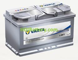 Batería para caravanas Varta Professional Purpose AGM 12 voltios 80Ah 800A LA80 315 x 175 x 190 mm