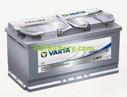Batería para caravanas Varta Professional Purpose AGM 12 voltios 95Ah 850A LA95 353 x 175 x 190 mm