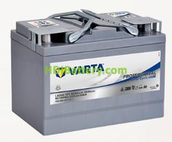 Batería para caravana Varta Professional Deep Cycle AGM 12 voltios 60Ah 340A LAD60A 265 x 166 x 188 mm