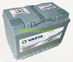 Batería para caravanas Varta Professional Deep Cycle AGM 12 voltios 60Ah 464A LAD60B 278 x 175 x 190 mm