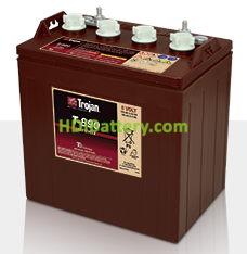 Batería de plomo ácido abierto Trojan para buggies de golf T-890 8V 211Ah Ciclo profundo