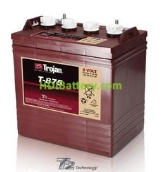 Batería de plomo ácido abierto Trojan para electromedicina T-875 8V 170Ah Ciclo profundo