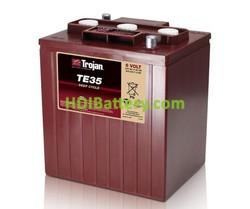 Batería de plomo ácido abierto Trojan para carros de golf TE35 6V 245Ah Ciclo profundo