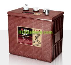 Batería de plomo ácido abierto Trojan para buggies de golf J250G 6V 235Ah Ciclo profundo