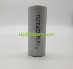 Batería LiFePO4 3.2V 3600mAh Ø26-65MM 3C LFP26650-36I
