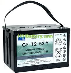 Batería de gel 12 Voltios 52 Amperios Sonneschein GF12052Y0 261mm x 170mm x 178mm