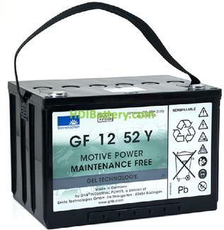 Batería de gel 12 Voltios 52 Amperios Sonneschein GF12052Y0 261x170x178mm