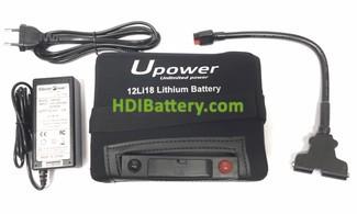 Batería de litio 12v 18ah Upower 12LI18 + Kit de carga