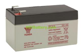 Batería de plomo AGM NP1.2-12 Yuasa 12 voltios 1,2 amperios 97mm x 48mm x 54,5mm