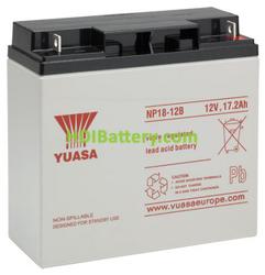 Batería de plomo AGM NP18-12B Yuasa 12 voltios 18 amperios 180mm x 76mm x 167mm