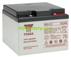Batería de plomo AGM NP24-12I Yuasa 12 voltios 24 amperios 166mm x 175mm x 125mm