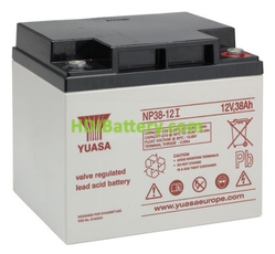 Batería de plomo AGM NP38-12I Yuasa 12 voltios 38 amperios 197mm x 165mm x 170mm