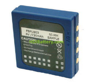 Batería mando de grúa 6V 730mah HBC FUB03 BA222060 BA203060