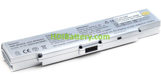 Batería ordenador portátil 11.1V 5200mAh Sony Vaio VGP-BPS10, VGP-BPS9