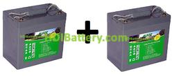 Batería para apiladora 24V 55AH Gel HZY-EV12-55 HAZE