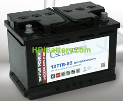 Batería para apliladora 12v 65Ah Q-batteries 12TTB-65