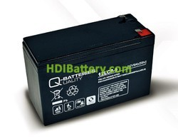 Batería para Bicicleta eléctrica 12v 9ah Plomo agm 12LCP-9 Q-Batteries