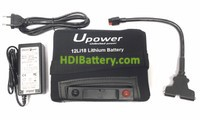 Batería de litio para carro de golf 12v 18ah Upower 12LI18 + Kit de carga 18 Hoyos