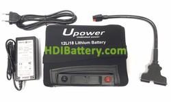 Batería de litio para carro de golf 12v 18ah Upower 12LI18 + Kit de carga 18 Hoyos