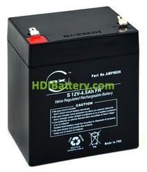 Batería para luces de emergencia 12v 4.5ah Plomo agm Nx