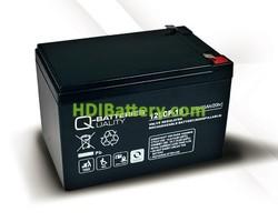 Batería para UPS-SAI 12v 15Ah Plomo Agm Q-Batteries 12LCP-15