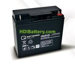 Batería para UPS-SAI 12v 23Ah Plomo Agm Q-Batteries 12LCP-23