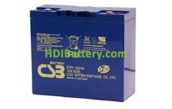 Batería para UPS-SAI 12v 24ah EVH12240 CSB