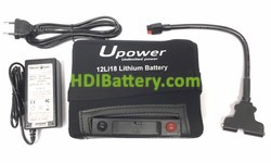 Batería de litio para vareadora 12v 18ah Upower 12LI18 + Kit de carga