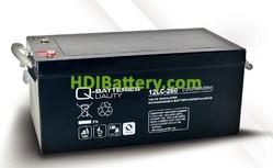 Batería solar agm 12v 278ah 12LC-260 Q-Batteries