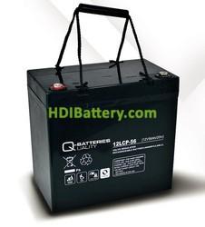 Batería solar agm 12v 56Ah 12LCP-56 Q-Batteries