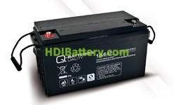 Batería solar agm 12v 67Ah 12LC-67 Q-Batteries