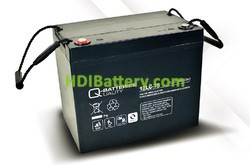 Batería solar agm 12v 77Ah 12LC-75 Q-Batteries