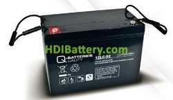 Batería solar agm 12v 93Ah 12LC-92 Q-Batteries