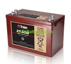 Batería solar AGM Trojan 27-AGM 12V 89Ah Ciclo profundo