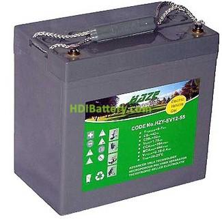 Batería solar gel 12v 55Ah HAZE HZY-EV12-55