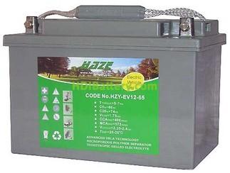 Batería solar gel 12v 65Ah HAZE HZY-EV12-65