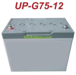 Batería solar gel 12v 70ah U-POWER UP-G75-12