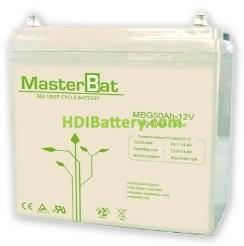 Batería solar gel 12v 50Ah UPOWER UP-G50-12
