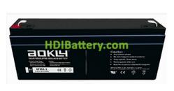 Batería AGM 12 Voltios 2.3 Amperios Aokly Power 6FM2.3 (178X35X61 mm)