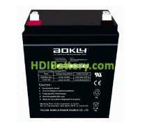 Batería AGM 12 Voltios 2.9 Amperios Aokly Power 6FM2.9 (80X56X99 mm)
