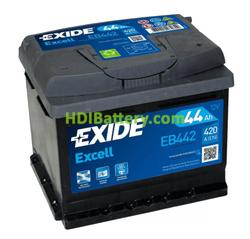 Batería de Arranque Exide EB442 12 Voltios 44 Amperios