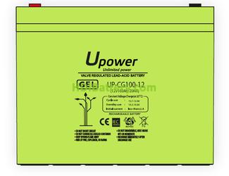 Batería Carbono-Gel U-Power UP-CG100-12 12V 100ah
