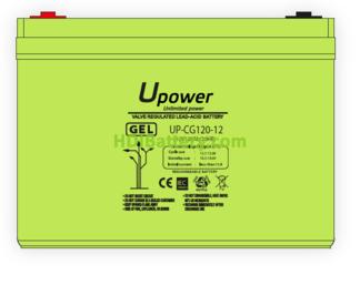Batería Carbono - Gel 12 Voltios 120 Amperios UP-CG120-12